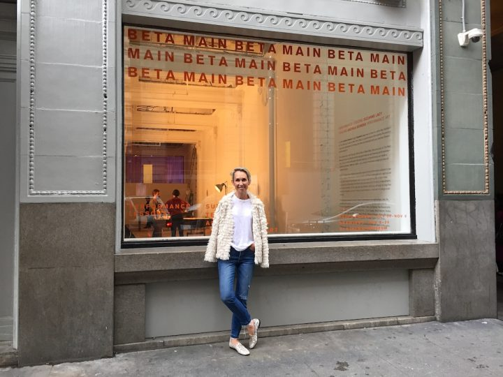Director Allison Agsten in front of the Main Museum.