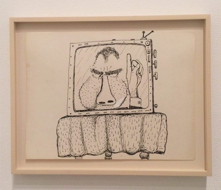 "Philip Guston, ""Untitled (Poor Richard)"" (1971) (all photos by the author for Hyperallergic unless indicated otherwise)"