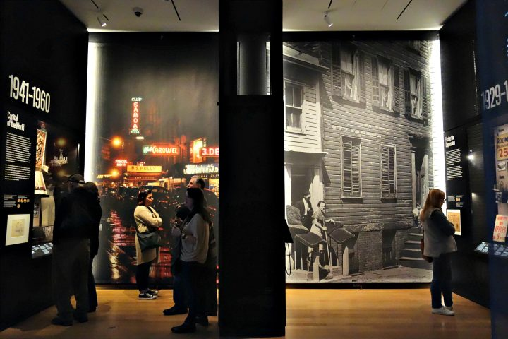 Installation view of New York at Its Core at the Museum of the City of New York (photo by the author for Hyperallergic)