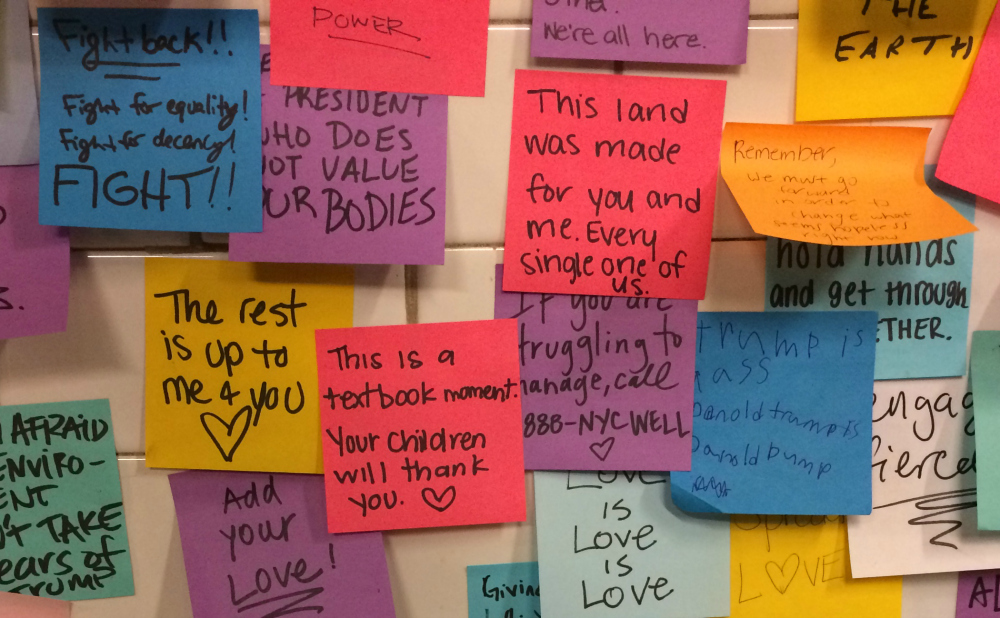 An Artist S Sticky Note Project Spreads Post Election