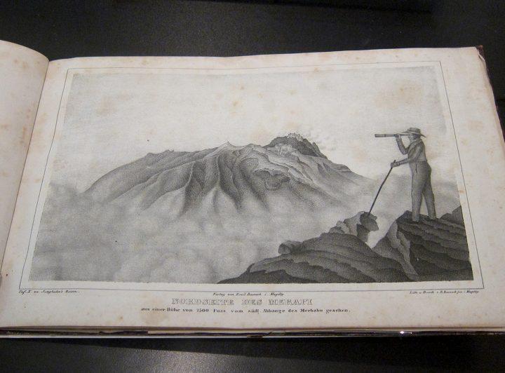 """Franz Wilhelm Junghuhn, a page from """"Topographische und naturwissenschaftlicher Atlas zur Reise durch Java [Topographic and Scientific Journeys in Java]"""" (1845)"""