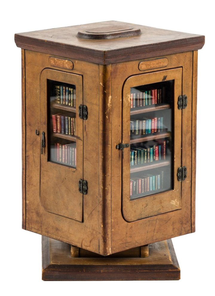 Collection of 151 miniature books by Barbara Raheb in a custom revolving case (1977-1980)