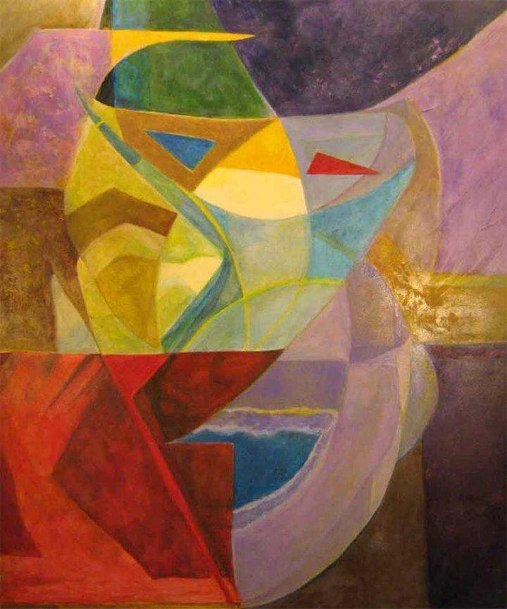 Oversoul Protective Spirit, 2007, Betty Blayton-Taylor. Acrylic on canvas.