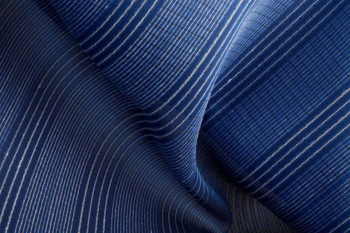 Textile, Suzushi Stripe (2009), designed by Reiko Sudo, manufactured by Nuno Corp., 100% silk (raw silk and kibiso)