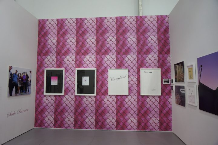 Sadie Barnette's work fills Jenkins Johnson Gallery's booth.