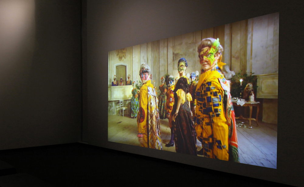 Installation view of Senses of Time: Video and Film-Based Works of Africa at the Ruth and Elmer Wellin Museum of Art (courtesy of the Ruth and Elmer Wellin Museum of Art)
