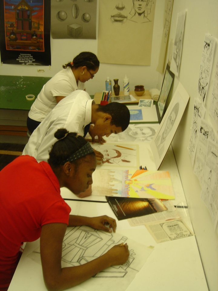 Youth during Open Studio Workshop at the Children's Art Carnival. Courtesy of Marline A. Martin.