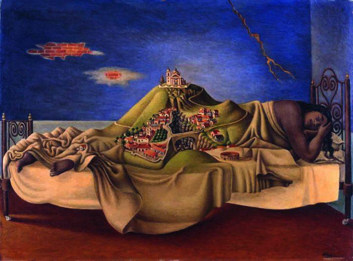 """Antonio """"El Corcito"""" Ruiz, """"Le Rêve de la Malinche"""" (1939, oil on masonite, Mexico, Galería de Arte Mexicano (courtesy Galería de Arte Mexicano, © photo INBA/Museo Nacional de Arte)"""