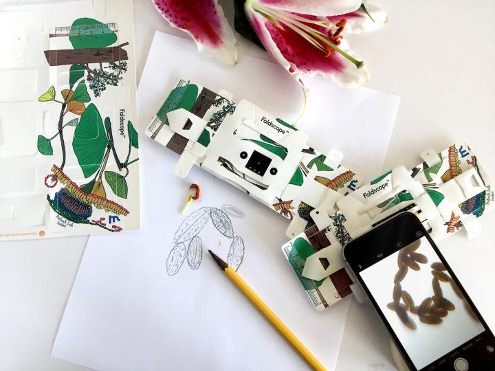 Foldscope: The Origami Paper Microscope (courtesy Foldscope)
