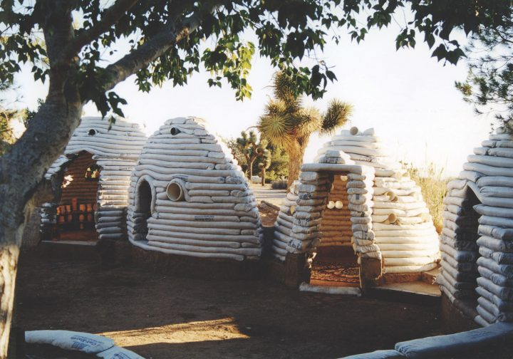 Nader Khalili, Sandbag Shelter (1995) (courtesy of the California Institute of Earth Art and Architecture)