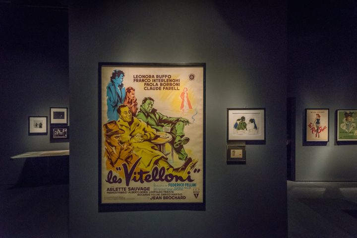 Movie posters from Martin Scorsese's personal collection, including <em>I Vitelloni</em>, <em>The Red Shoes</em>, and <em>The Life and Death of Colonel Blimp</em>, appear in the Cinephile section of <em>Martin Scorsese</em> at the Museum of the Moving Image (photo by Thanassi Karageorgiou, courtesy the Museum of the Moving Image)