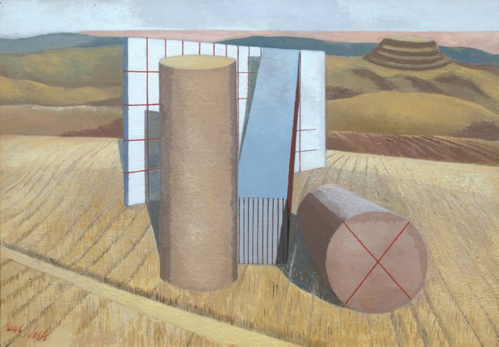 """Paul Nash, """"Equivalents for the Megaliths"""" (1935), oil on canvassupport (©Tate)"""