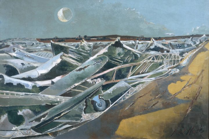 """Paul Nash, """"Totes Meer (Dead Sea)"""" (1940–41), oil on canvas, Tate, presented by the War Artists Advisory Committee, 1946"""
