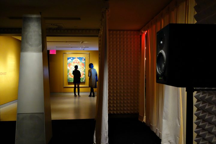 Installation view of Sacred Spaces: Himalayan Wind at the Rubin Museum (photo by the author for Hyperallergic)