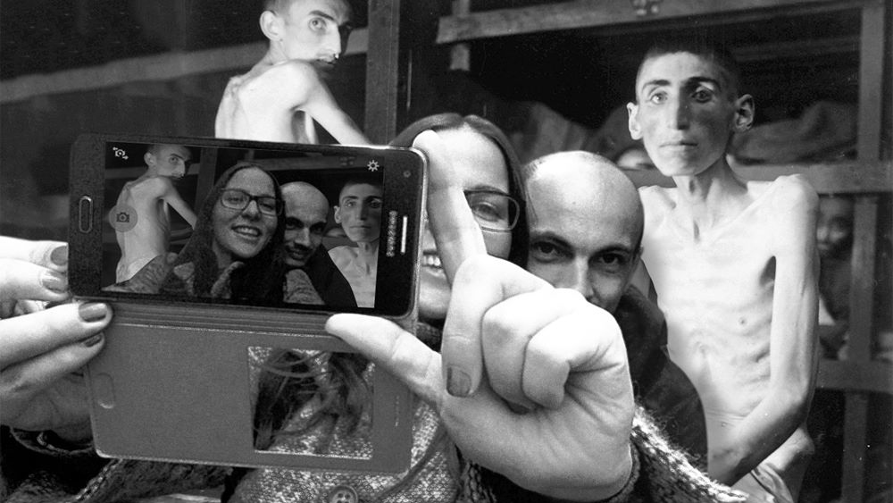 an online project shames selfie takers at berlin s holocaust memorial