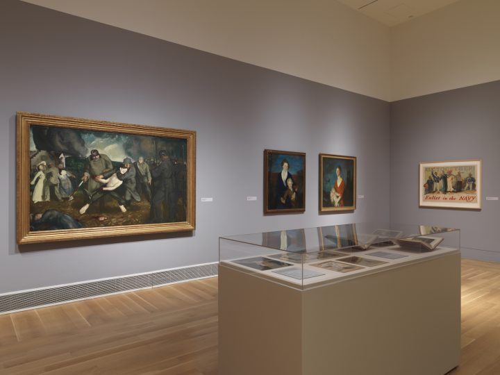 Installation view of World War I and American Art at the Pennsylvania Academy of the Fine Arts (photo courtesy the Pennsylvania Academy of the Fine Arts, Philadelphia)