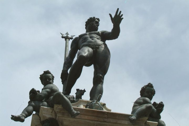 """A statue of Neptune in Bologna's Piazza del Nettuno that was blocked by Facebook for """""""" (photo by Cassinam, via Wikimedia Commons)"""