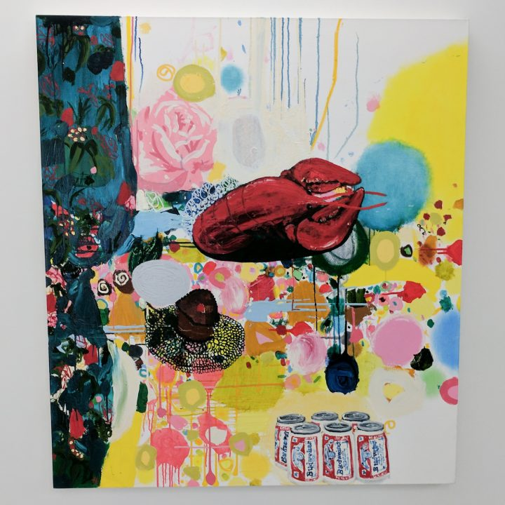 """Tracy Miller, """"Crushed Rose"""" (2011), oil on canvas, 54 x 48 in"""