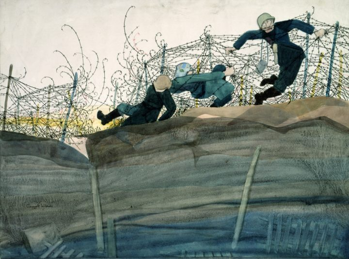 """Claggett Wilson, """"Dance of Death"""" (ca 1919), watercolor and pencil on paperboard, 16 3/4 × 22 1/2 in, Smithsonian American Art Museum, gift of Alice H. Rossin (photo clourtesy Smithsonian American Art Museum, Washington, DC / Art Resource, NY)"""