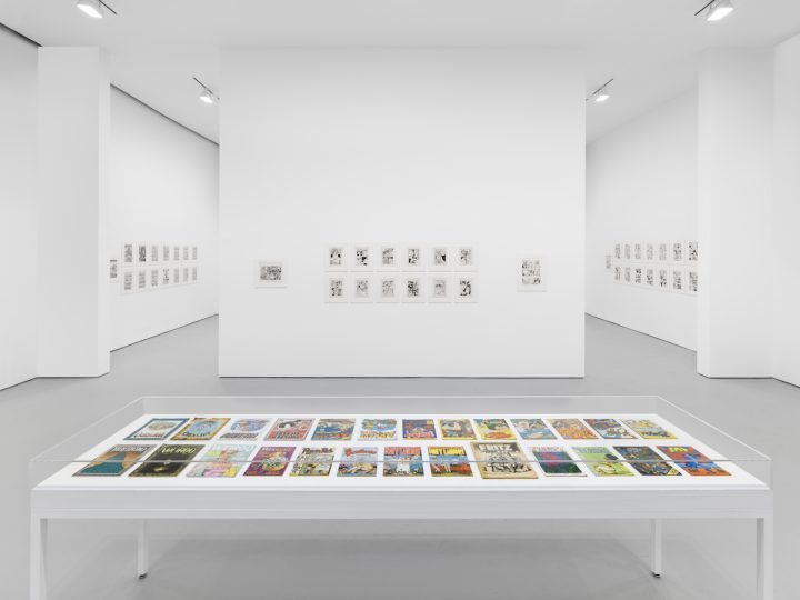 Installation view of <em>Aline Kominsky-Crumb & Robert Crumb: Drawn Together</em> at David Zwirner (photo courtesy the artists and David Zwirner)
