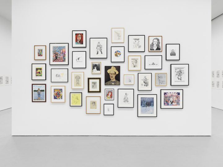 Installation view of Aline Kominsky-Crumb & Robert Crumb: Drawn Together at David Zwirner (photo courtesy the artists and David Zwirner)