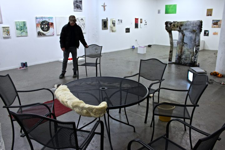 <em>Eric Schmid is an Idiot</em>, installation view with work by Daniel Sperry
