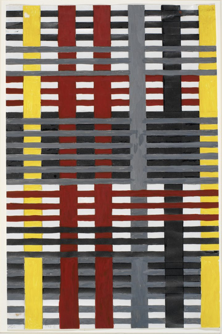 """Anni Albers, """"Study for unexecuted wallhanging"""" (1926), gouache with pencil on photo offset paper (© The Josef and Anni Albers Foundation / VG Bild-Kunst, Bonn)"""