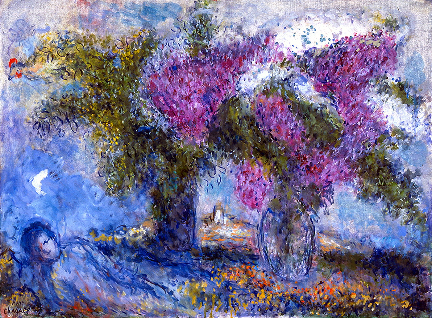 A Botanical Garden Blooms with Chagall Artes & contextos bouquet of lilacs