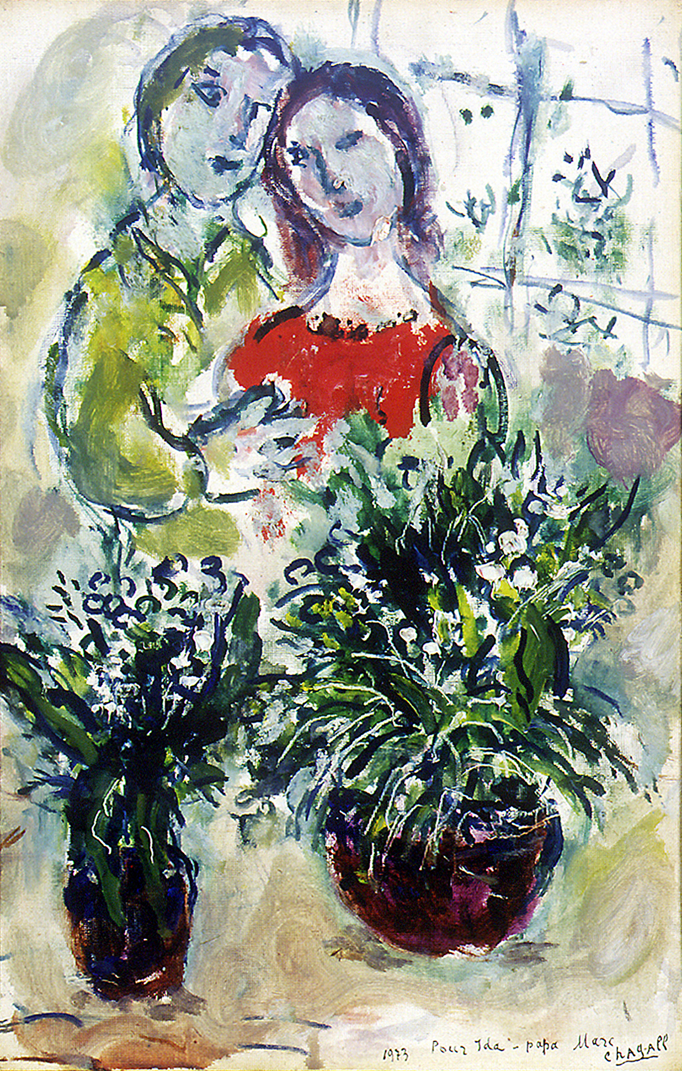 A Botanical Garden Blooms with Chagall Artes & contextos couple with lilies