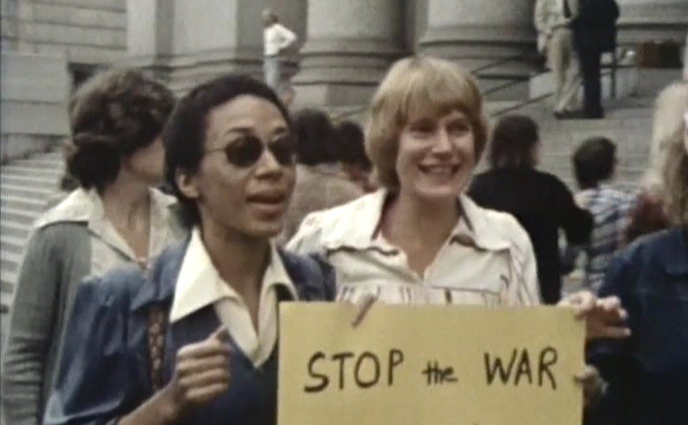 Still from Some American Feminists (1980), directed by Luce Guilbeault, Nicole Brossard, and Margaret Wescott (courtesy Light Industry)