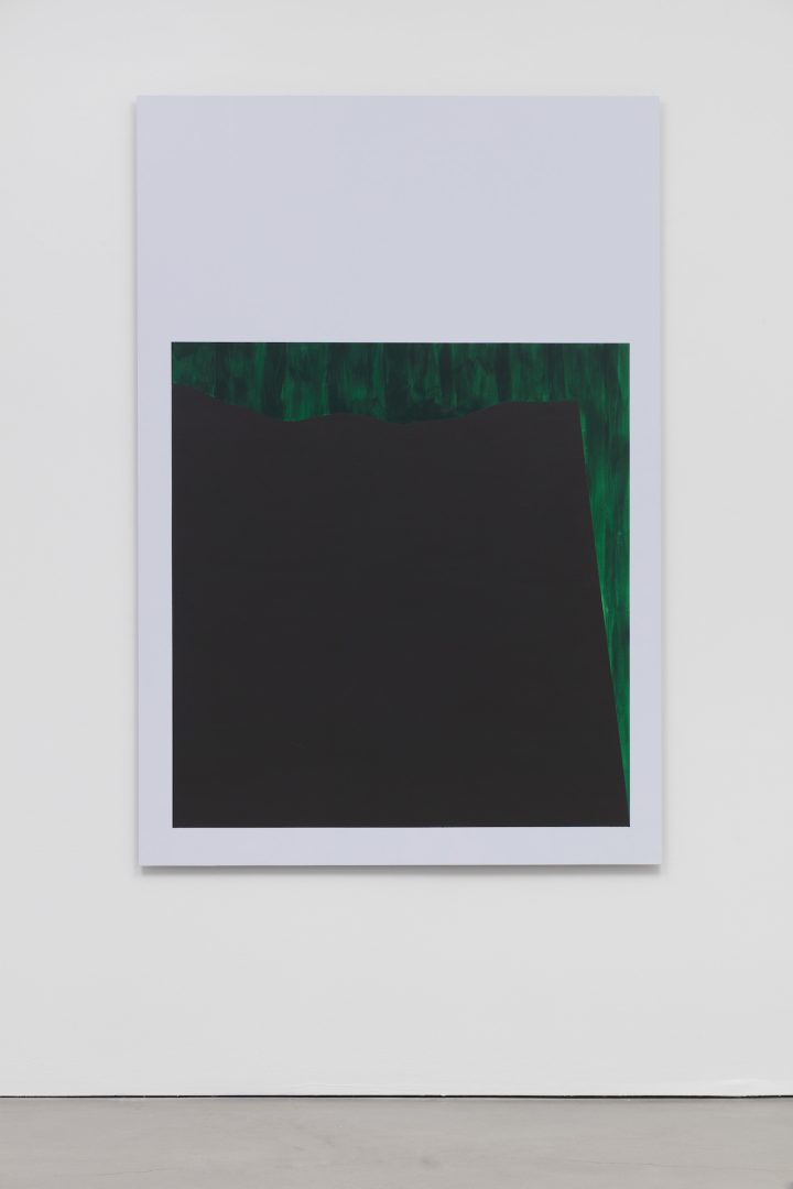"""Theaster Gates, """"Ex Slaves, Slaves"""" (2017), latex and acrylic on aluminum panel, 72 x 49 in"""