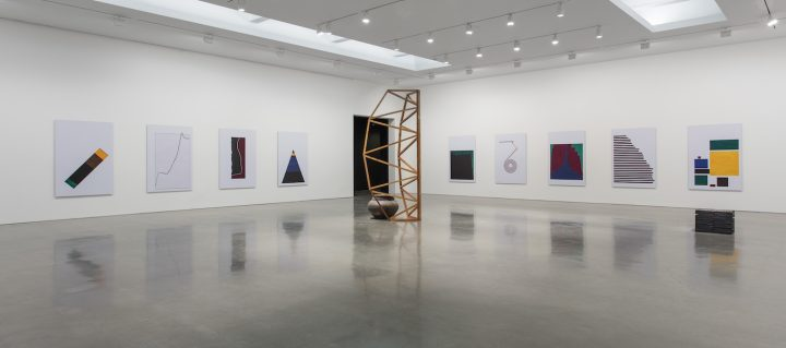 Installation view of Theaster Gates But To Be A Poor Race at Regen Projects (photo by Brian Forrest, © Theaster Gates, courtesy Regen Projects, Los Angeles)