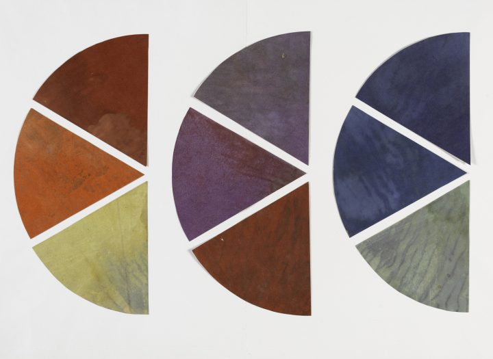 """Vassily Kandinsky, """"Nine Elements of the Chromatic Circle"""" (1922–33), painting on paper (photo © Centre Pompidou, MNAM-CCI, Dist. RMN-Grand Palais / Philippe Migeat)"""