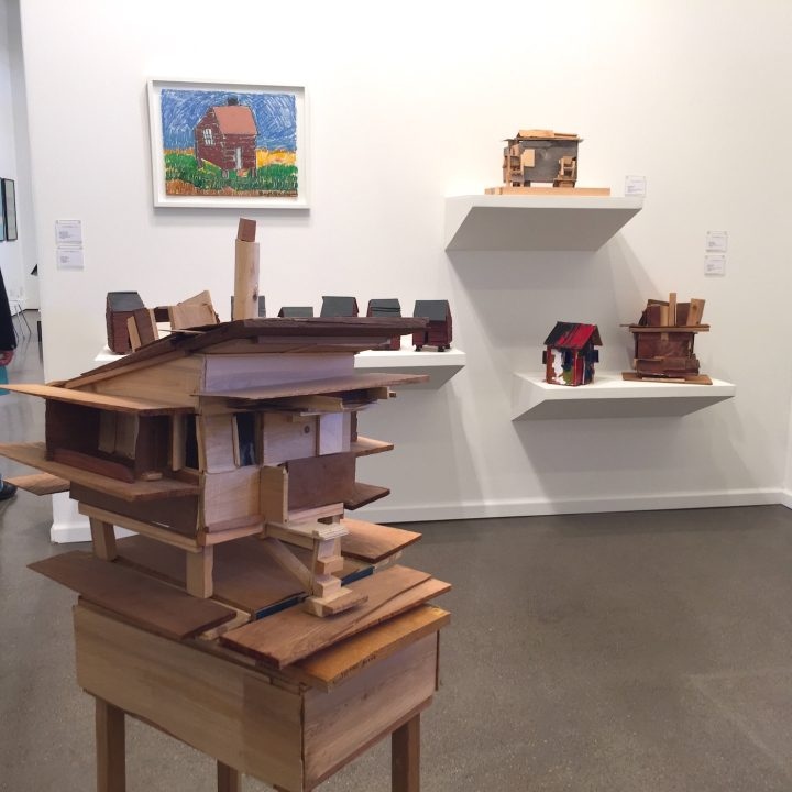 Works by Beverly Buchanan in the Andrew Edlin Gallery booth