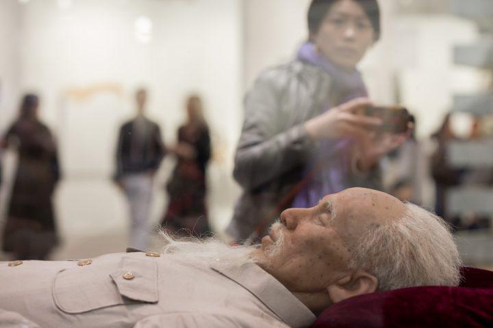 """Detail of Shen Shaomin, """"Summit"""" (2009), at Art Basel Hong Kong 2017"""