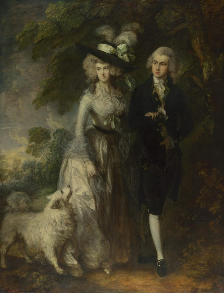 """Thomas Gainsborough, """"Mr. and Mrs. William Hallett"""" (aka """"The Morning Walk"""") (1785), oil on canvas, 236.2 x 179.1 cm (© The National Gallery, London; via Wikimedia Commons)"""
