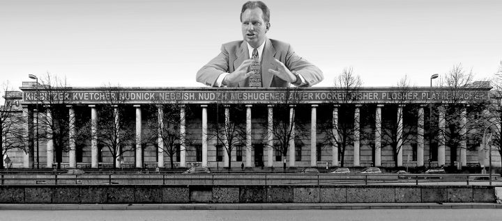 "L. Rob Hubbard presides over the Haus der Kunst. (images <a href=""https://commons.wikimedia.org/wiki/File:L._Ron_Hubbard_in_1950.jpg"" target=""_blank"">1</a> and <a href=""https://commons.wikimedia.org/wiki/File:Haus_der_Kunst_(M%C3%BCnchen).jpg"" target=""_blank"">2</a> via Wikimedia)"
