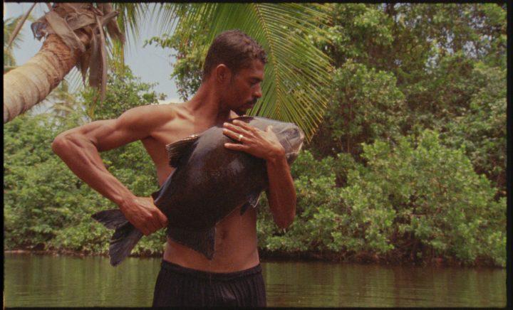 "Still from Jonathas de Andrade,""O peixe""(""The Fish,"" 2016), 16 mm film transferred to HD video, sound, color; 38 min (courtesy Alexander and Bonin, New York, and Galeria Vermelho, São Paulo)"