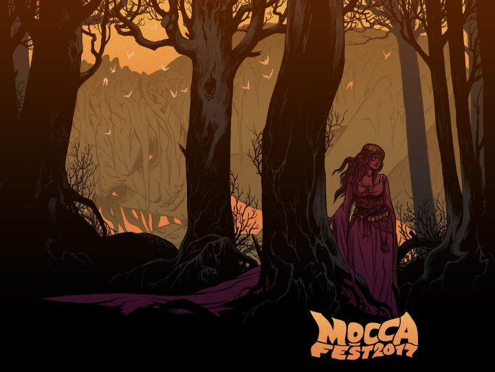MoCCA Fest 2017 poster by Becky Cloonan (courtesy the artist, MoCCA Fest)