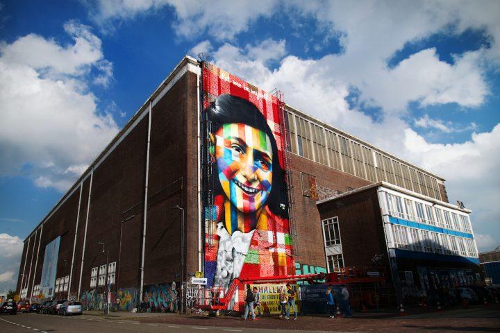 Eduardo Kobra mural on the exterior of Amsterdam's future street art museum (photo by Marco Buddingh)