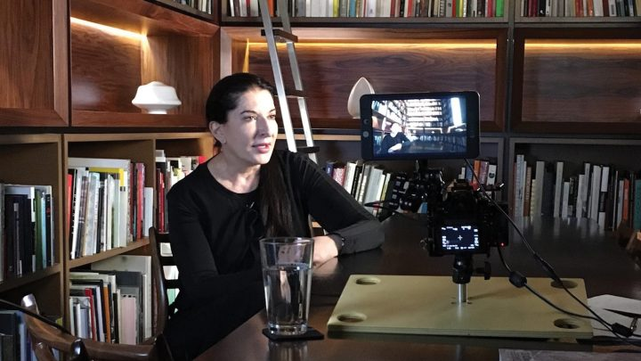 Marina Abramovic appears in <em>Blurred Lines: Inside the Art World</em> (photo by Barry Avrich)
