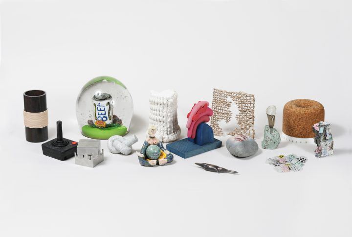 Selection of works from <em>The Paperweight Show</em> (all photos by Clemens Kois for Fisher Parrish Gallery)