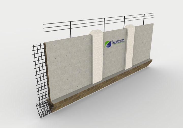 Rendering of Quantum Logistics's concrete border wall (courtesy Quantum Logistics)
