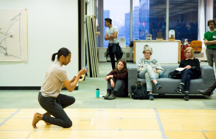 Open Studios with Stacey Spence, LMCC Workspace 2015–16 artist-in-residence, at 28 Liberty (photo by Jonathan Patkowski)