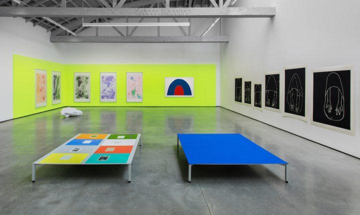 Installation view of <em>Andrea Büttner</em> at David Kordansky Gallery, Los Angeles, 2016 (photo by Brian Forrest)