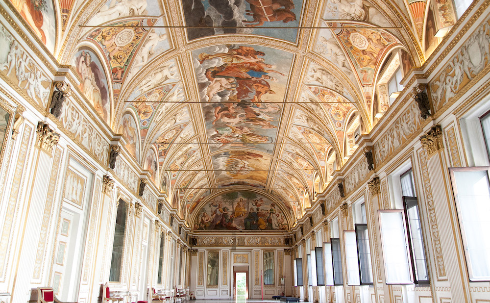 The interior of the Palazzo Ducale in Mantua (photo by Errem, via Wikimedia Commons)