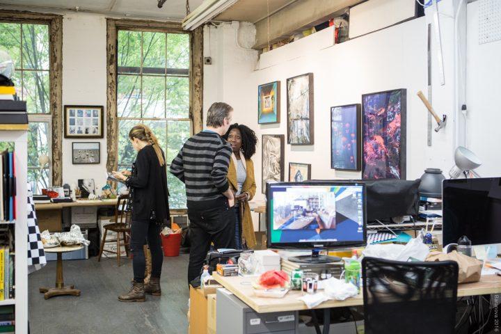 Open studios at the Invisible Dog Art Center (photo © Maria Baranova, courtesy the Invisible Dog)