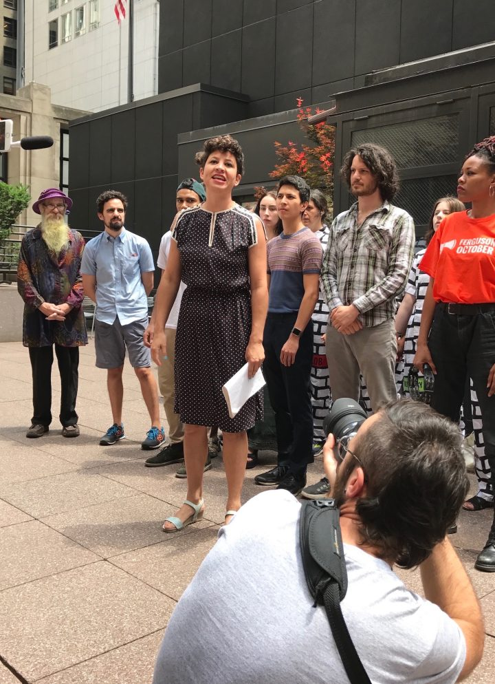 Artists Stage Protest Performances In Trump Tower