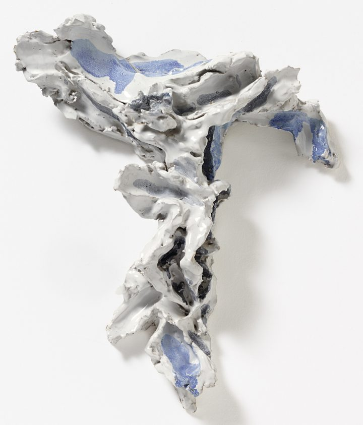 "Lucio Fontana, ""Crocifisso"" (1955–57), polychrome ceramics, 17 x 14 x 4 1/3 in (© Fondazione Lucio Fontana, by SIAE 2017, courtesy Galerie Karsten Greve Cologne, Paris, St Moritz; photo by Saša Fuis, Cologne)"