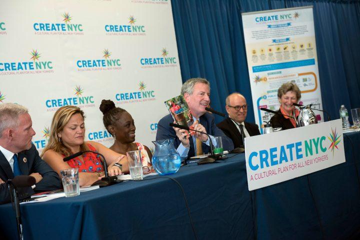 d8b5df05963e Mayor Bill de Blasio announces CreateNYC at Materials for the Arts